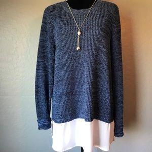 Faded Glory Crew Neck Sweater, Blue, Size XXL